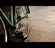 bici vecchia verde