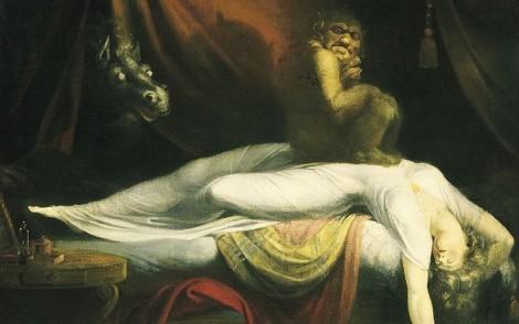 """paralisi nel sonno, rappresentata dal dipinto """"L'incubo"""" di Fussli"""