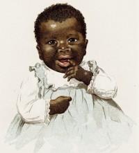 bambino nero, di colore