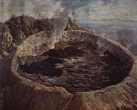 cratere di un vulcano