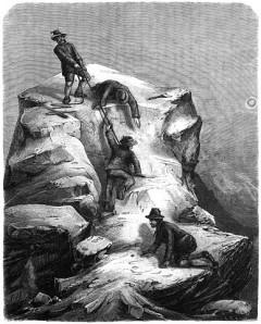 salire su una montagna, scalare montagna rocciosa
