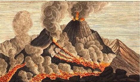 sognare vulcano