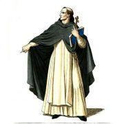 sacerdote, prete, parroco vestito di bianco e nero