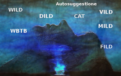 tecniche di induzione al sogno lucido: wild, dild, cat, vild, wbtb, mild, fild